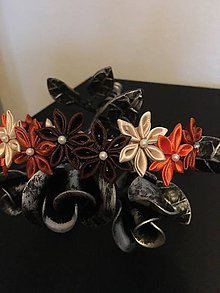 Ozdoby do vlasov - čelenka z kvetov - 11003608_
