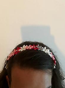 Ozdoby do vlasov - Čelenka z kvetov - 11003615_