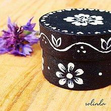 Krabičky - Modrotisková krabička - květ - 11003595_