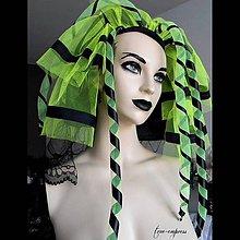 Ozdoby do vlasov - Cyber goth závoj - 11005234_