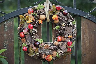Dekorácie - Jesenný venček - 11004346_