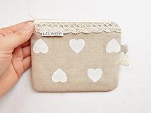 Peňaženka/dokladovka - Romantické srdce