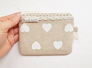 Peňaženky - Peňaženka/dokladovka - Romantické srdce - 11004097_