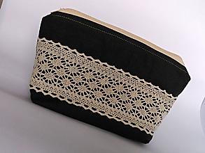 Taštičky - vintage kozmetická taštička, kapsička, vrecúško - 11004944_