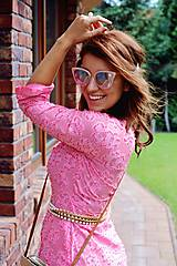 Šaty - Košeľové šaty STRIPES pink - 11004738_