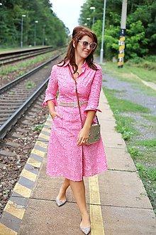 Šaty - Košeľové šaty STRIPES pink - 11004739_