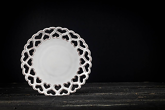 Nádoby - Vyřezávaný talířek rustik - 11004452_