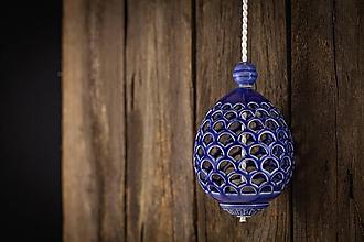Dekorácie - Aroma difuzér vajíčko královská modř - 11005813_