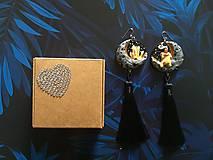 Náušnice - Čarodejnícke náušnice - žlté - 11005366_
