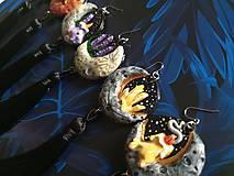 Náušnice - Čarodejnícke náušnice - žlté - 11005369_