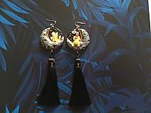 Náušnice - Čarodejnícke náušnice - žlté - 11005370_