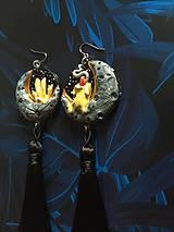 Náušnice - Čarodejnícke náušnice - žlté - 11005375_