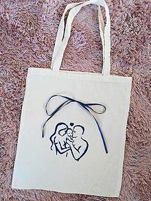 Iné tašky - Maľovaná eko taška rodina - 11003632_
