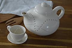 Nádoby - Madeirová porcelánová presso šálka vlnky - 11004434_