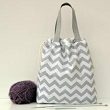 Iné tašky - Taška šedý cik-cak ~ tvoritaška + nákupná - 11003771_
