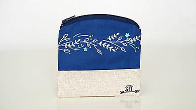 Peňaženky - Peňaženka ručne maľovaná- farebné lístky - 11004323_