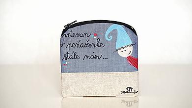 Peňaženky - Peňaženka ručne maľovaná- prievan v peňaženke... - 11004360_