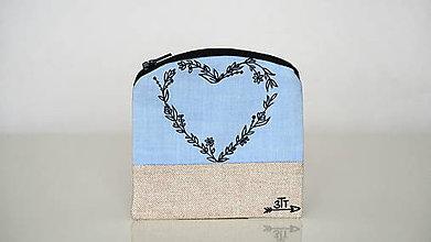 Peňaženky - Peňaženka ručne maľovaná- srdiečko - 11004404_