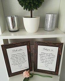 Darčeky pre svadobčanov - Svadobná tabuľka - poďakovanie rodičom - 11003951_
