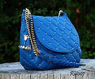 Kabelky - Ručně šitá kožená kabelka Kleopatra - 11005180_