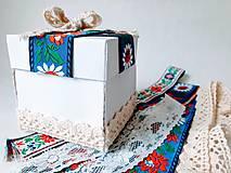 Papiernictvo - Folklórna čipkovaná krabička na peniaze - 11004276_