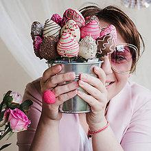 Prstene - BUTTON {ball} výrazný ružový prsteň - 11004144_
