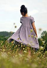 Šaty - Lněné šaty zavinovací Lila - 11003823_