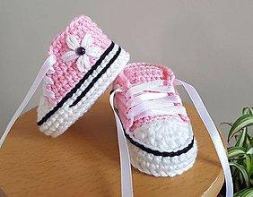 Topánočky - Tenisky s kvetinkou - 11007612_