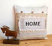 Úžitkový textil - Ľanový vankúš-HOME - 11006770_