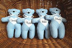 Darčeky pre svadobčanov - Mackovia  v modrom šate - 11006711_
