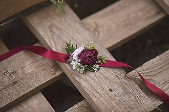 Náramky - Kvetinový náramok - 11005969_