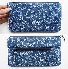 Peňaženky - Peňaženka - Modrotlač lístky - 11008400_