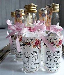 Darčeky pre svadobčanov - Svadobná mini pálenka - 11007633_