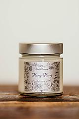 Svietidlá a sviečky - Sviečka zo 100% sójového vosku v skle - Ylang Ylang a Vanilka - 11006944_
