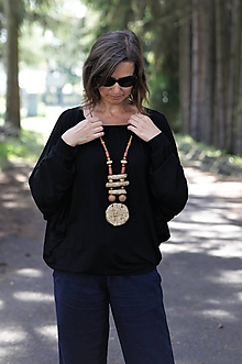 Náhrdelníky - náhrdelník paper-raw - 11007935_