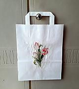 Iné tašky - darčeková taška tulipány - 11007945_