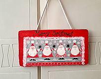 Tabuľky - tabuľka na dvere merry christmas - 11008152_
