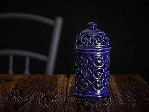 Svietidlá a sviečky - Aromalampa kobalt - 11005893_