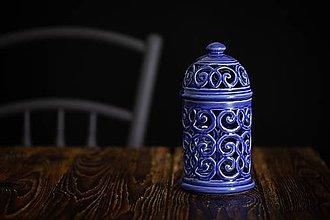 Svietidlá a sviečky - Aromalampa královská modř - 11005901_