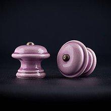 Nábytok - Úchytka - knopka lila střední - vzor HLADKÝ - 11006750_