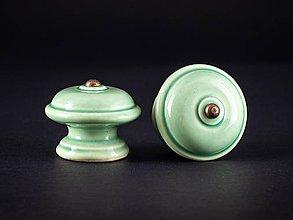 Nábytok - Úchytka - knopka mint velká - vzor HLADKÝ - 11007833_