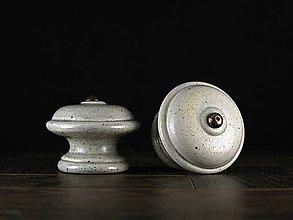 Nábytok - Úchytka - knopka šedá velká - vzor HLADKÝ - 11008022_