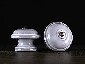 Nábytok - Úchytka - knopka rustik velká - vzor HLADKÝ - 11008058_