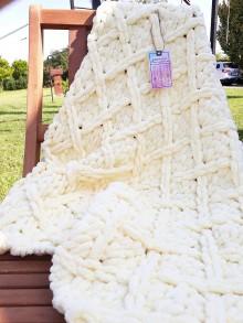 Textil - Detská deka - diamantový vzor - 11008234_