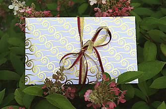 Papiernictvo - Darčekové obálky k maľovanému hodvábu 26 x 16 cm - 11006067_
