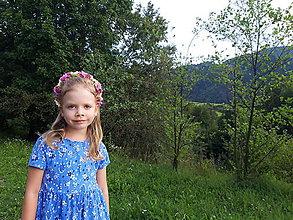 Ozdoby do vlasov - Kvetinovy vencek do vlasov v ruzovych odtienoch - 11007409_