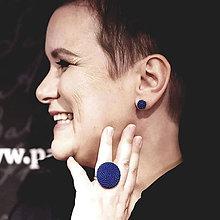 Náušnice - EARBERRIES kráľovské modré zapichovačky - 11007540_