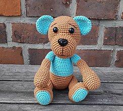 Hračky - Hačkovaný medvedík - 11008604_