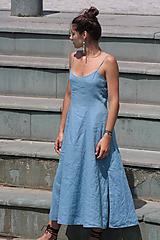 Šaty - Ľanové šaty Vejana - 11010743_