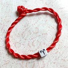 Náramky - Lucky Red Zodiac Sign Bracelet / Náramok proti urieknutiu so symbolom znamenia (Baran) - 11010121_